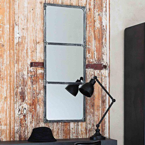 Spiegel CARGO aus Metall mit Rosteffekt, H 120cm