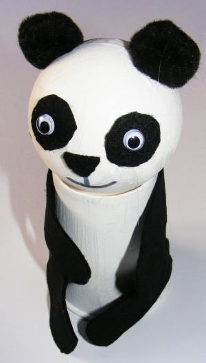 Paper cup and ball panda craft idea for kids