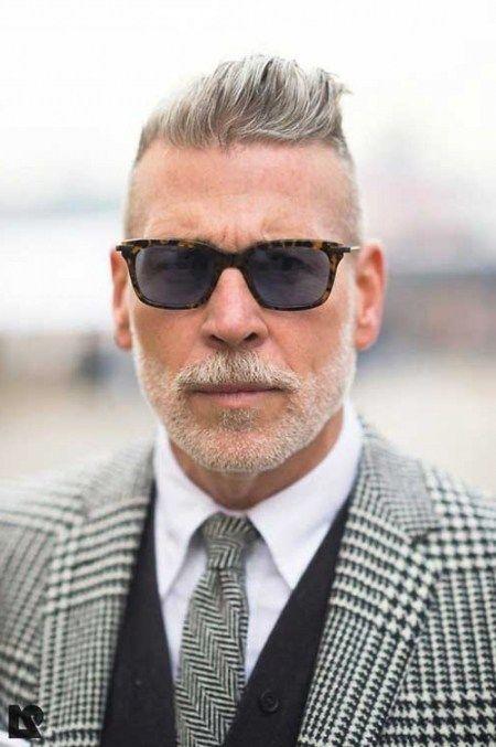 Große Herren Frisuren Für Graue Haare Männer Frisuren Hair