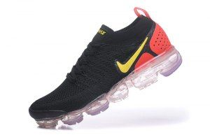 ec20376238e6 Mens Womens Nike Air VaporMax Flyknit 2. 0 W Black Laser Orange Total  Crimson 942842