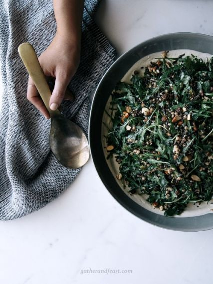 Wild Rice & Rocket Salad with Chai Soaked Raisins