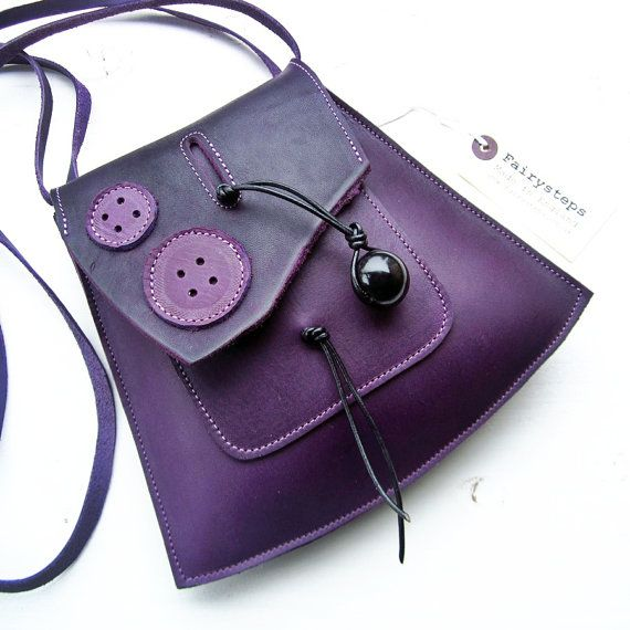YSABEL in Damson 2381 Leather small messenger Bag by by Fairysteps, £48.00