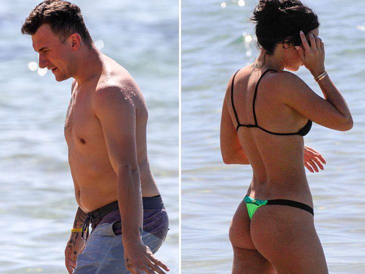 Johnny Manziel Livin' Large In Hawaii With Bikini Clad Fiancee