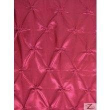 $6.95/yd - Button Style Taffeta Fabric / Fuchsia / Sold By The Yard