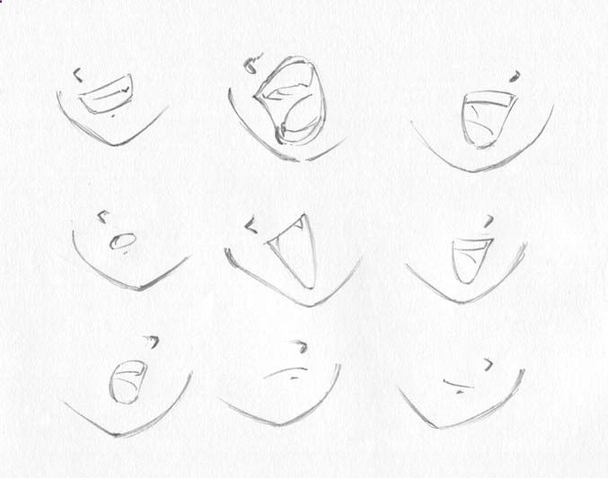 Delineate Your Lips How To Draw Anime