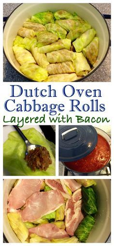 A Family Favourite Made Better With Bacon! Dutch Oven Golubsti – Cabbage Rolls…