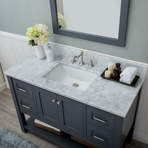 Alya Bath Wilmington 48 Inch Single Bathroom Vanity In Gray With