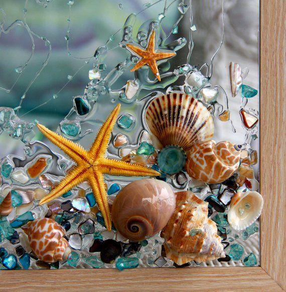 Starfish Wall Art Beach Glass Art For Bathroom Decor Coastal Decor Wall Hanging Starfish Art Sea Glass Art For Nautical Decor Starfish Wall Art Beach Glass Art Starfish Art