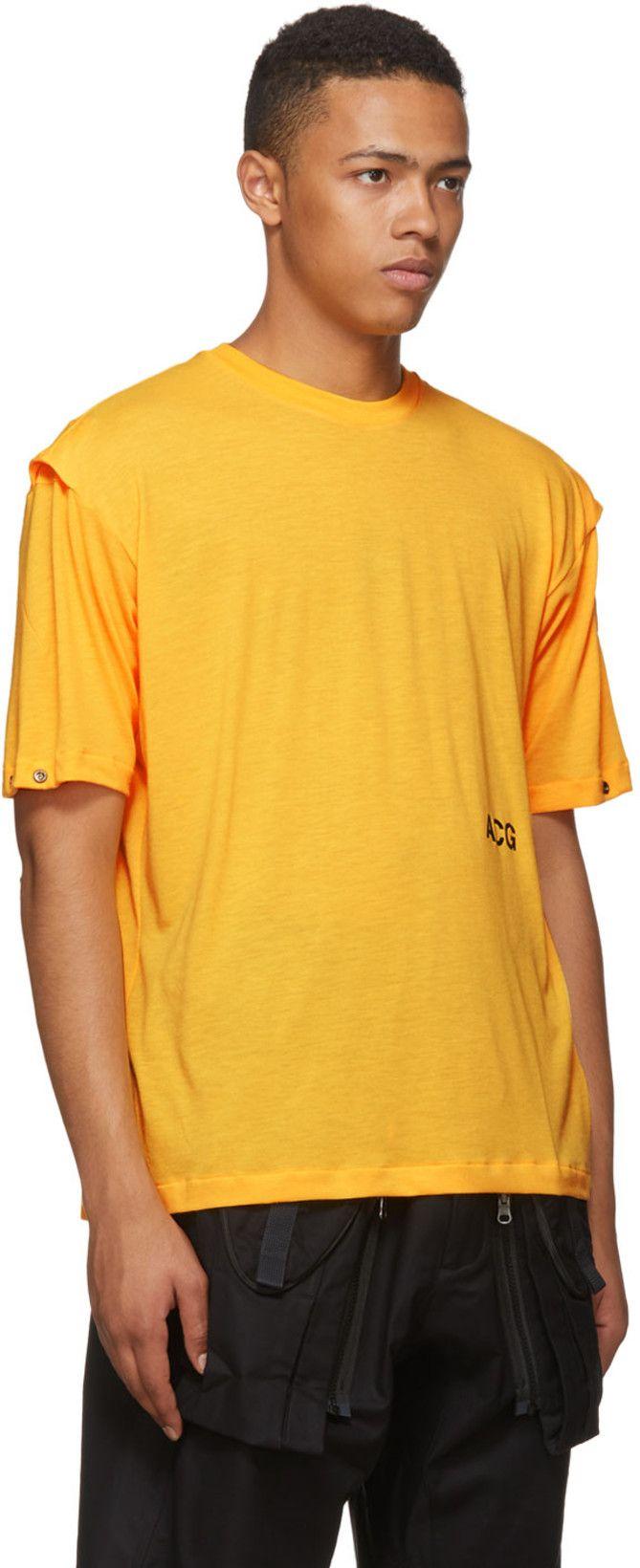 580974cb NikeLab - Orange NRG ACG Variable T-Shirt | Tech Fashion | Mens tops ...