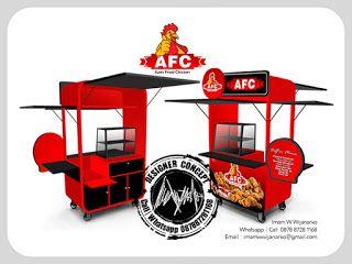 Desain Logo   Logo Kuliner    Desain Gerobak   Jasa Desain dan Produksi Gerobak   Branding: Desain Gerobak Fried Chicken Azmi