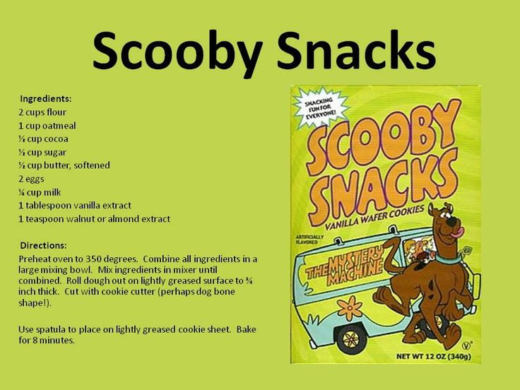 We're sharing a very special recipe with you! Make your own Scooby Snacks and see Scooby and the Gang LIVE as they come to Comerica Theatre to solve an epic Mystery May 14!