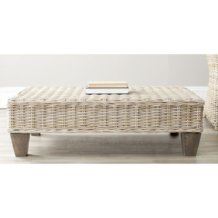 Safavieh Leary Washed Natural Wicker Bench   Overstock™ Shopping   Great  Deals On Safavieh Coffee, Sofa U0026 End Tables