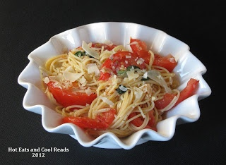 Capellini al Fresco from Hot Eats and Cool Reads. One of the easiest and most flavorful pasta dishes ever!