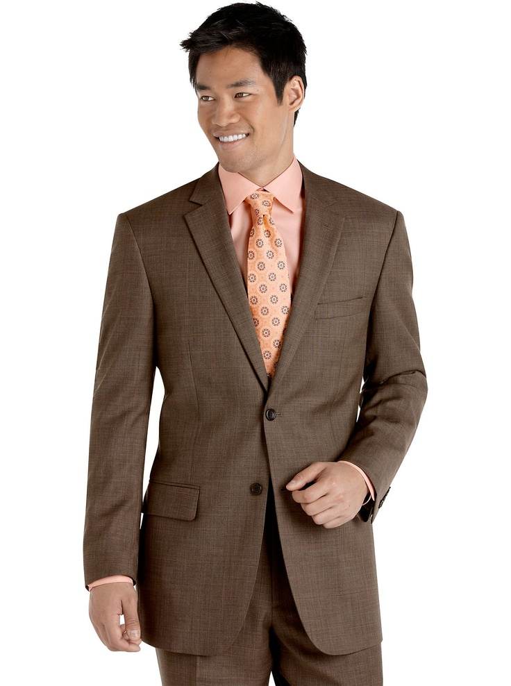 Suits & Suit Separates Pronto Uomo Taupe Plaid Suit