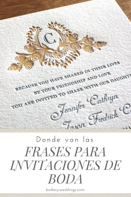 Frases Cortas Para Invitaciones De Boda