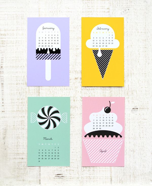 Reusable Calendar DIY + Freebie 2013 CalendarRoundup!