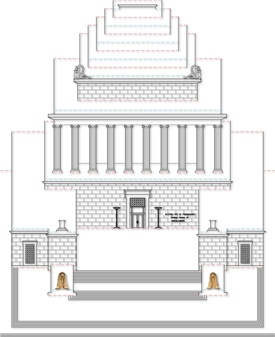 popup architecture template | Template #1 for building the exterior of the House of the Temple pop ...