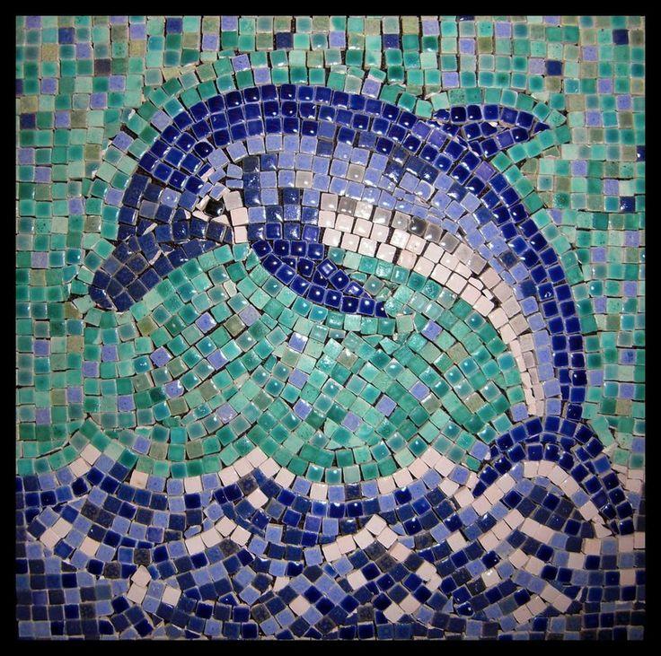 Dolphin mosaic | Mosaic ideas for SCM | Pinterest