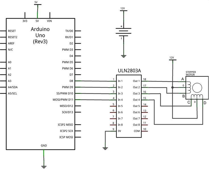Mover Motores Paso A Paso Unipolar Con Arduino Y Uln2803a