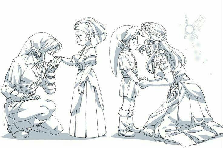 Link And Zelda Children And Teens Legend Of Zelda Ocarina