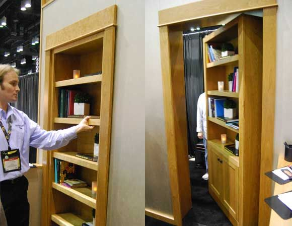 Create Storage & Intrigue With A Secret Door, great entry to safe or media area