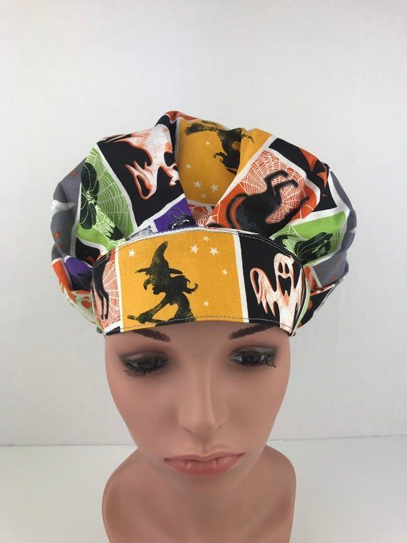 Halloween Cat Scrub Hat