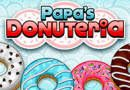 Papa's Donuteria. In this new cooking game from the series of papa's games, you will have to test their ability to manage the restaurants. Your objective is to manage the restaurant papa's donuteria. Source: http://www.friv-top.com/papa-s-donuteria.html