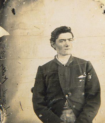 Irish-Australian outlaw Ned Kelly, age fifteen, c. 1870. (National Museum of Australia-Canberra)