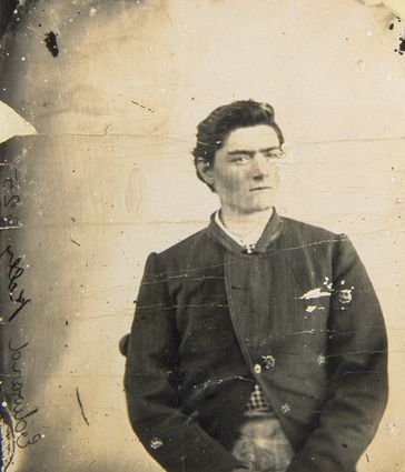 Irish-Australian outlaw Ned Kelly, age fifteen, c. 1870. (National Museum of Australia-Canberra)