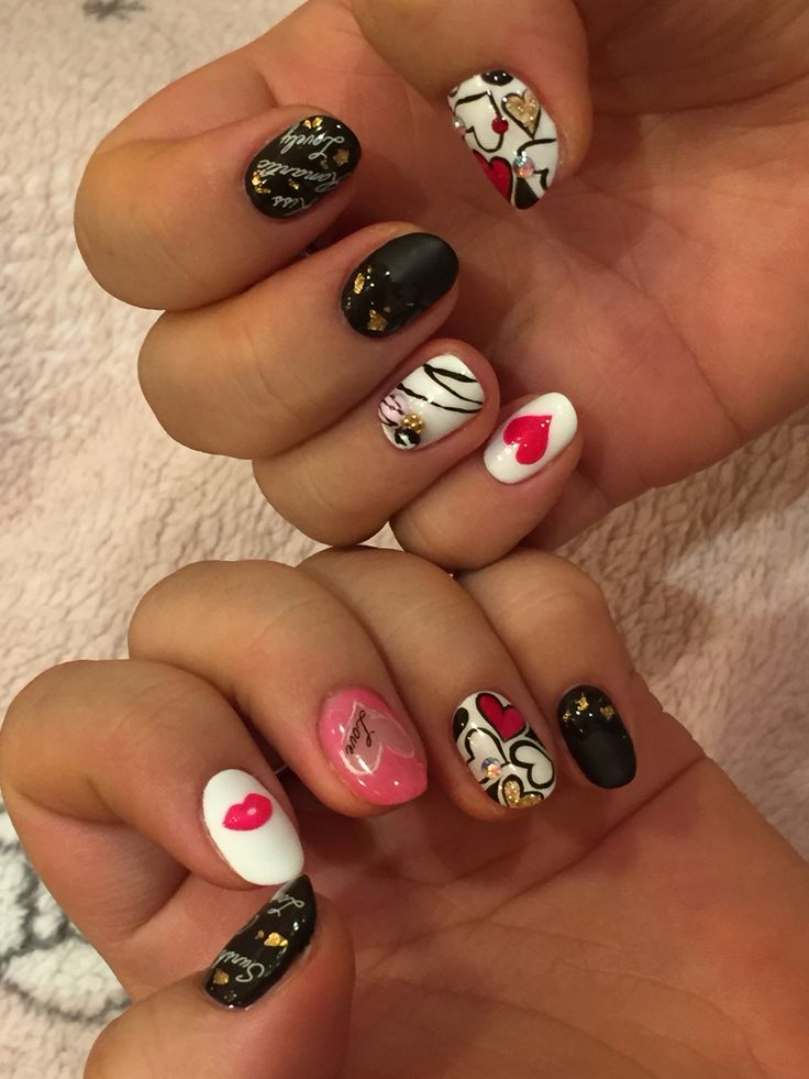 February 2016 nail color of St.Valentine