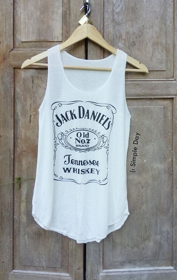 Hey, I found this really awesome Etsy listing at https://www.etsy.com/listing/238418309/white-jack-daniels-tank-top-hipster-tank