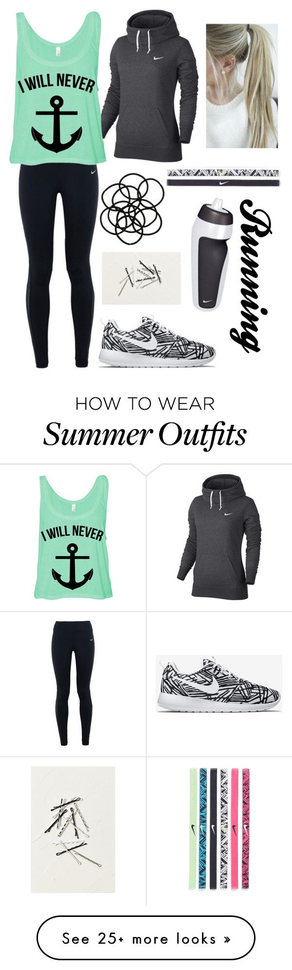 """Going for a run"" by squidney12 on Polyvore featuring NIKE, Monki, women's clothing, women's fashion, women, female, woman, misses and juniors"