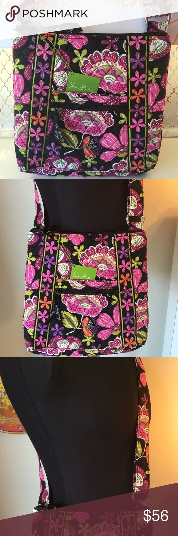 🆕VERA BRADLEY NEW LARGE CROSSBODY BAG 💯AUTHENTIC VERA BRADLEY NEW NEVER USED WITH TAGS LARGE SHOULDER/ CROSSBODY BAG 💯AUTHENTIC. SO STUNNING AND STYLISH PERFECT FOR ANY OCCASION . SUCH A WONDERFUL ROOMY BAG! IT HAS THREE EXTERIOR POCKETS AND THREE INTERIOR WALL POCKETS. THIS AMAZING BAG MEASURES NEARLY 12 INCHES WIDE BY 11 INCHES TALL WITH A LONG ADJUSTABLE SHOULDER / CROSSBODY STRAP Vera Bradley Bags Crossbody Bags