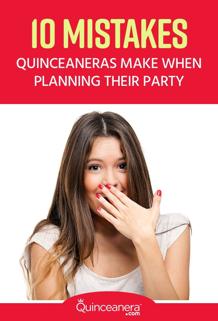 If you do decide to take on the party planning instead of hiring a professional, try to avoid these 10 mistakes quinceaneras often make: - See more at: http://www.quinceanera.com/planning/10-mistakes-quinceaneras-make-when-planning-their-quinceanera/#sthash.wn5dYvpI.dpuf
