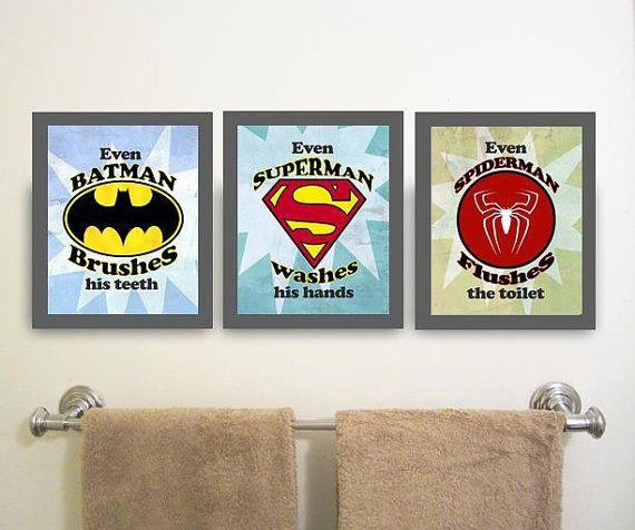 134 best images about boys room ideas decor on pinterest for Spiderman bathroom ideas