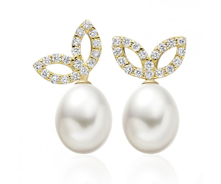 Lief Enchanted Earrings in Yellow Gold and Freshwater Pearls | Winterson