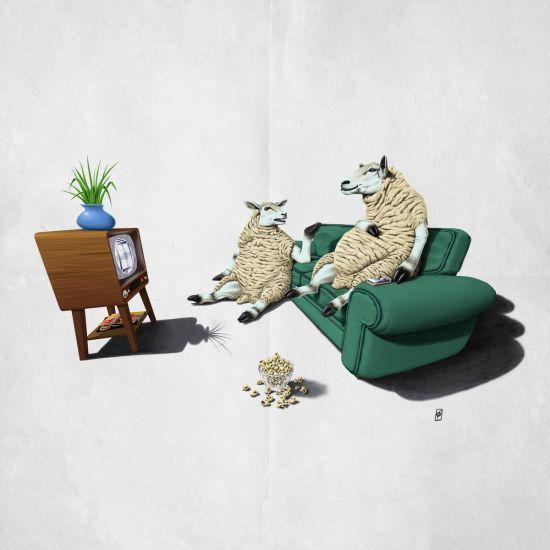 Loving this pic Sheep (Wordless) by rob_art_animals via @mipic_app art | decor | wall art | inspiration | animals | home decor | idea | humor | gifts