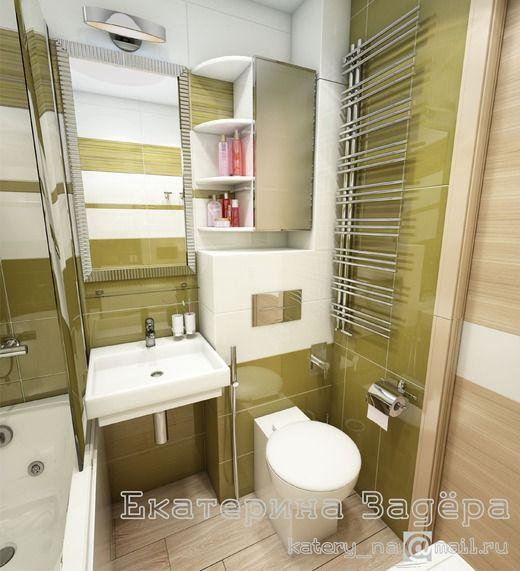 Маленькая ванная в обычной квартире. Ванная