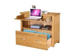 Newark Oak Sideboard Desk with double filing drawer http://solidwoodfurniture.co/product-details-oak-furnitures-3508-newark-oak-sideboard-desk-with-double-filing-drawer.html