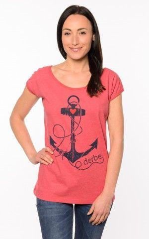 Derbe Deerns Anker Shirt Red Melange
