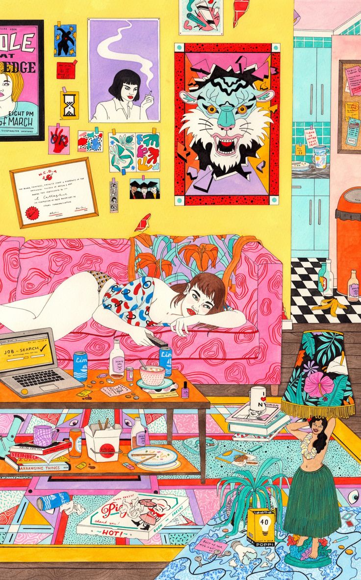 lauracallaghanillustration: Got an ask about this...   AFA - art for adults  Mood board par Mes amis imaginaires. Couleur, mélange de texture, liberté, originalité, automne. https://popmontreal.com/fr/artistes/detail/mes-amis-imaginaires/?volet=puces-pop  Mood board by Mes amis imaginaires. Colour, Texture Combination, Freedom, Originality, Fall. https://popmontreal.com/en/artists/detail/mes-amis-imaginaires/?volet=puces-pop