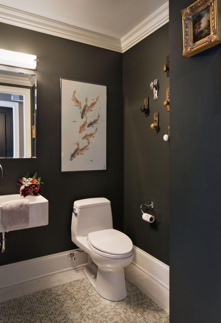Modern Half Bathroom Design modern half bathrooms bathroom with vintage accessories and mosaic