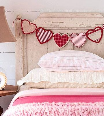 Valentine's Day bedroom