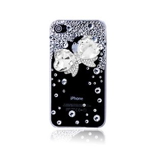 Large crystal bow and rhinestones alloy diy bling phone deco kit K7   chriszcoolstuff - Craft Supplies on ArtFire