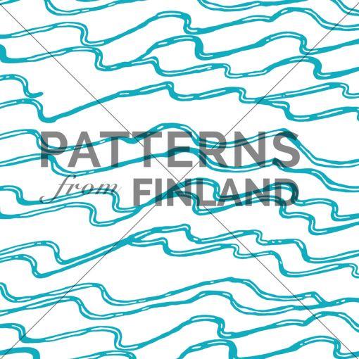 Ilana Vähätupa: Saaristo – Aallot #patternsfromagency #patternsfromfinland #pattern #patterndesign #surfacedesign #ilanavahatupa
