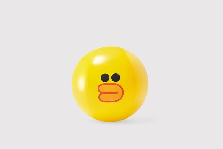 LINE FRIENDS SALLY Chick Cute Face Recreation Sports Inflatable Beach Ball #LINEPLUS