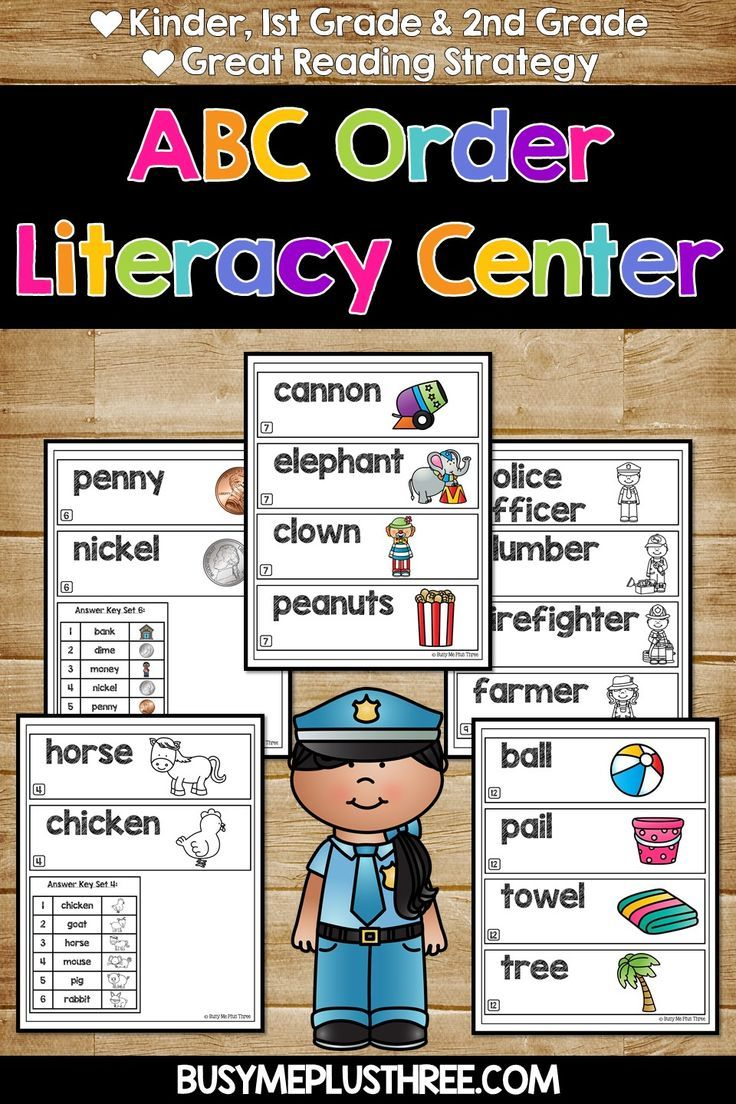 Abc Order To The First And Second Letter Alphabetical Order Workstations Centers Abc Order Literacy Kids Worksheets Printables [ 1104 x 736 Pixel ]