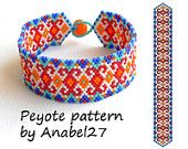 Peyote pattern - beadwork - ethnic style - bead pattern #4