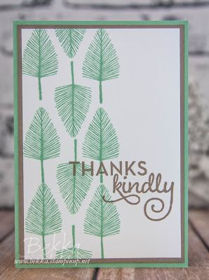 Make In A Moment Monday Thank You Card With The New Totally Trees Stamp Set from Stampin' Up! UK | Feeling Crafty | Bloglovin'