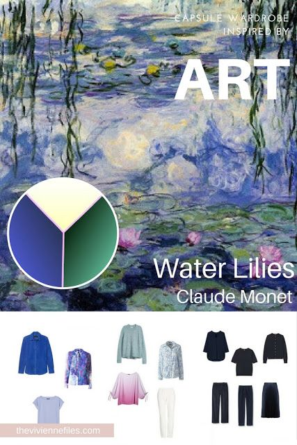 """Can You Build a Casual capsule Wardrobe from a """"Dressy"""" Work of Art? Water Lilies by Monet"""